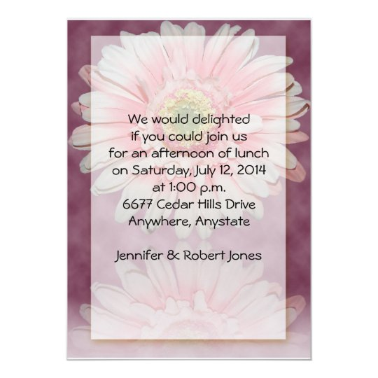 Gerber Daisy in Pink on Burgandy background Card