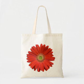 Gerber Daisy in Red Budget Tote Bag