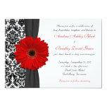 Gerber Daisy Red Black White Damask Wedding