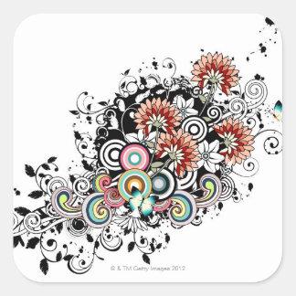 Gerber Daisy Square Stickers