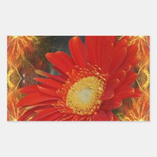 Gerber Daisy Rectangle Sticker