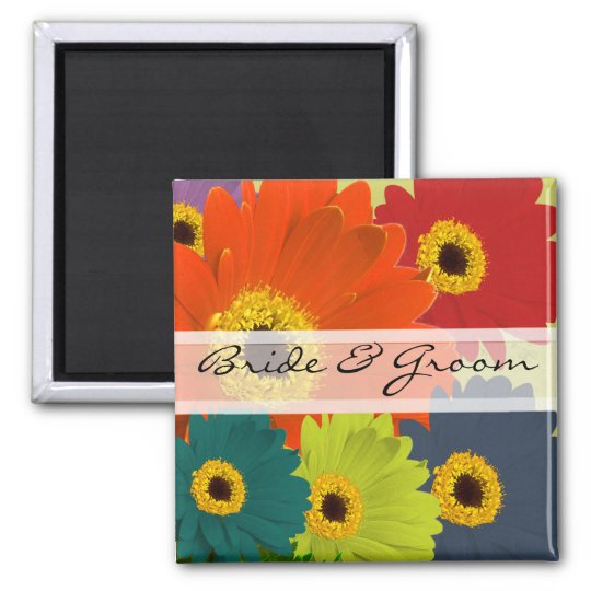 Gerber Daisy Wedding Stickers or Customise Magnet