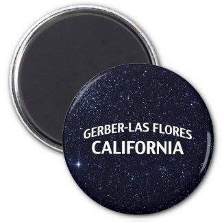 Gerber-Las Flores California 6 Cm Round Magnet