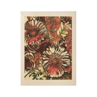 Gerbera and rose bouquet poster