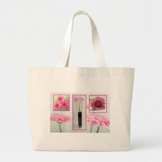 Gerbera Collage Large Tote Bag