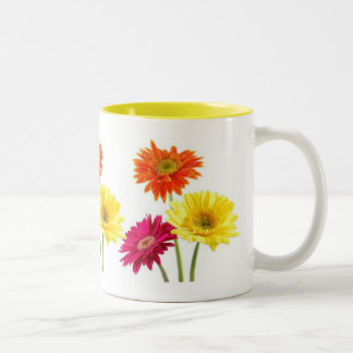 Gerbera Daisies Two-Tone Coffee Mug