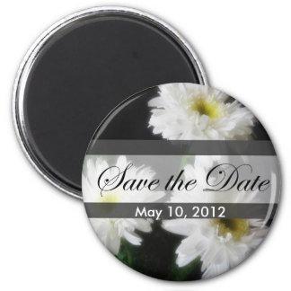 Gerbera Daisy 11 Save the Date Wedding 6 Cm Round Magnet