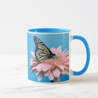 Gerbera Daisy and Butterfly Mug