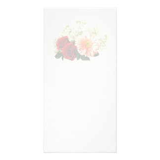 Gerbera Daisy And Two Roses Photo Card