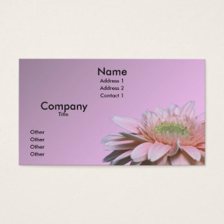 Gerbera Daisy Business Card