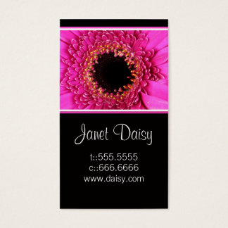 Gerbera Daisy Business Card Template