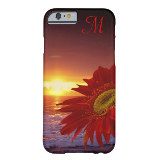 Gerbera Daisy Flower Initial Barely There iPhone 6 Case
