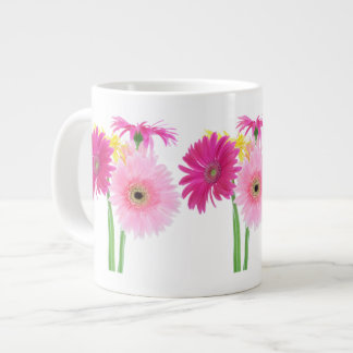 Gerbera Daisy Piink Flowers Large Coffee Mug