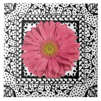Gerbera Daisy Pink Tile