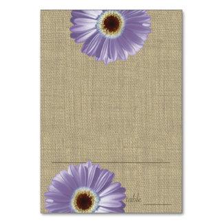Gerbera Daisy Purple Seating Card Table Card