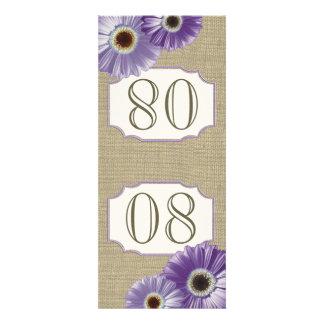 Gerbera Daisy Purple Table Number Custom Invitations