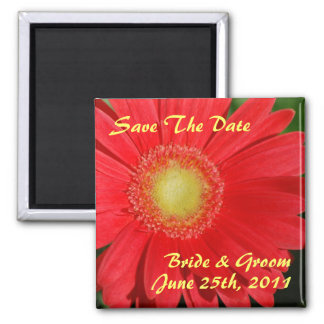 Gerbera Daisy Save The Date Magnet
