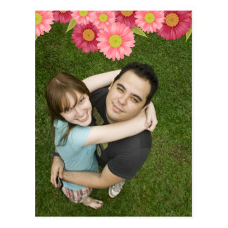 Gerbera Daisy Save the Date Wedding Postcard