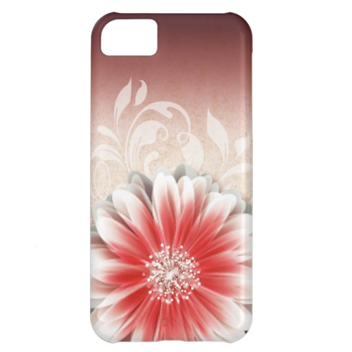Gerbera Daisy Scroll 1 | red sand Case For iPhone 5C