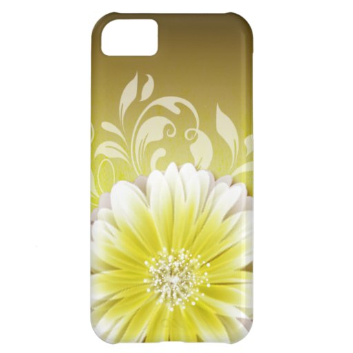 Gerbera Daisy Scroll 1 | yellow chalkboard iPhone 5C Cases