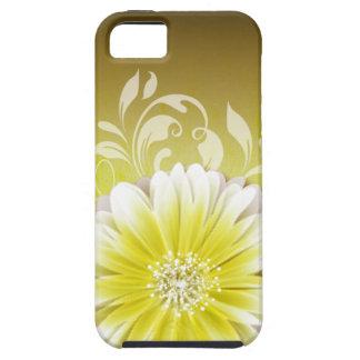 Gerbera Daisy Scroll 1 yellow chalkboard iPhone 5 Covers