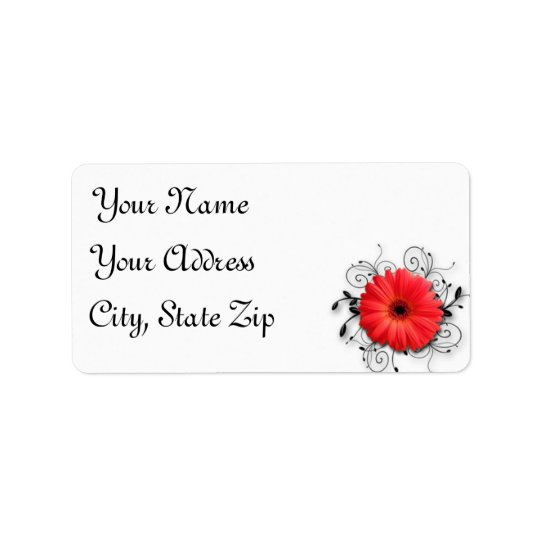 Gerbera Daisy Theme Address Label