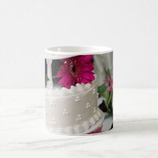 Gerbera Daisy Wedding Cake Coffee Mug