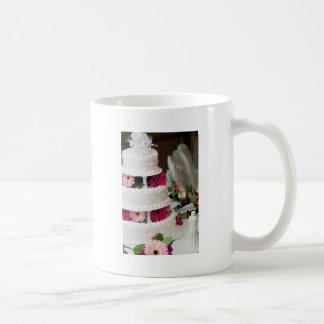 Gerbera Daisy Wedding Cake Coffee Mugs