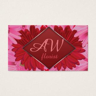 Gerbera floral pattern. Foiled frame. Monogramm