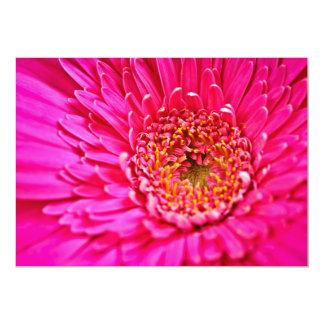Gerbera flower 13 cm x 18 cm invitation card