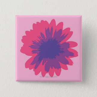 Gerbera Flower 15 Cm Square Badge