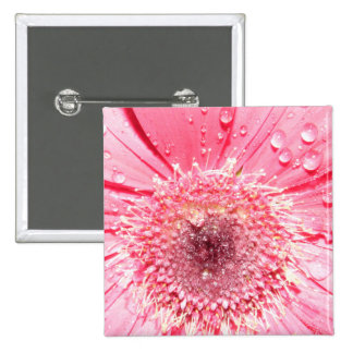 Gerbera Flower 15 Cm Square Badge