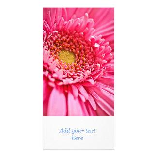 Gerbera flower photo card template