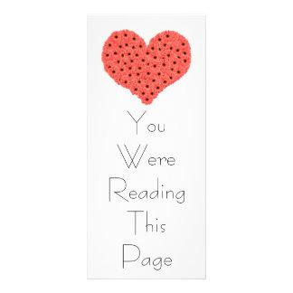 Gerbera Flowers Heart Bookmark Template Customised Rack Card
