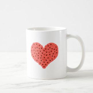 Gerbera Flowers Heart Mug