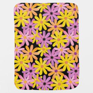 Gerbera flowers pattern, background baby blanket