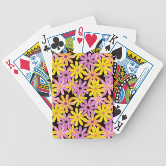 Gerbera flowers pattern, background bicycle playing cards