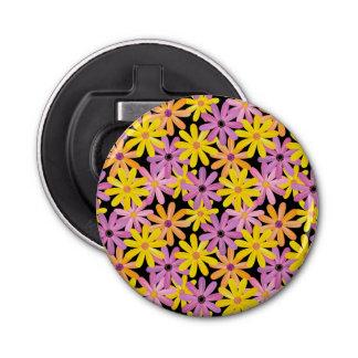 Gerbera flowers pattern, background bottle opener