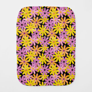 Gerbera flowers pattern, background burp cloth