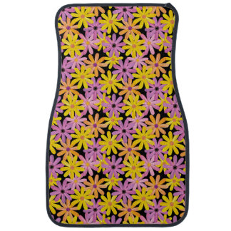 Gerbera flowers pattern, background car mat