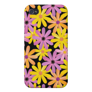 Gerbera flowers pattern, background cases for iPhone 4