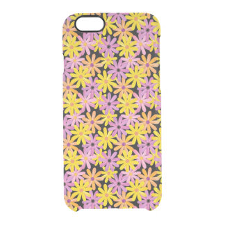 Gerbera flowers pattern, background clear iPhone 6/6S case