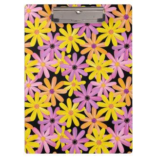 Gerbera flowers pattern, background clipboard