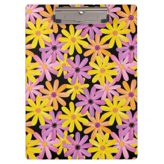 Gerbera flowers pattern, background clipboards