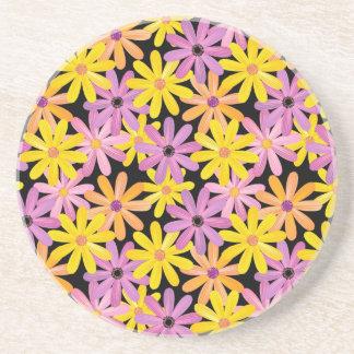 Gerbera flowers pattern, background coaster
