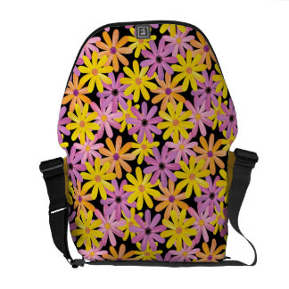 Gerbera flowers pattern, background courier bags