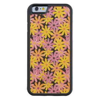 Gerbera flowers pattern, background maple iPhone 6 bumper case