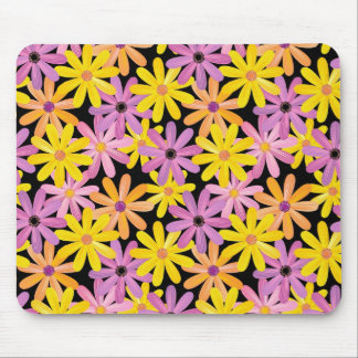 Gerbera flowers pattern, background mouse mat