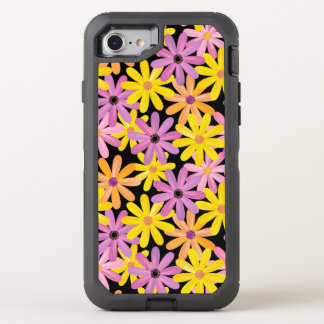 Gerbera flowers pattern, background OtterBox defender iPhone 8/7 case
