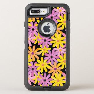 Gerbera flowers pattern, background OtterBox defender iPhone 8 plus/7 plus case